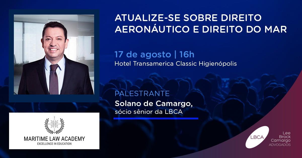Maritime Law Academy faz evento sobre direito aeronáutico
