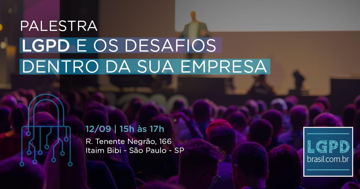 LGPD Brasil organiza mais uma palestra sobre proteção de dados