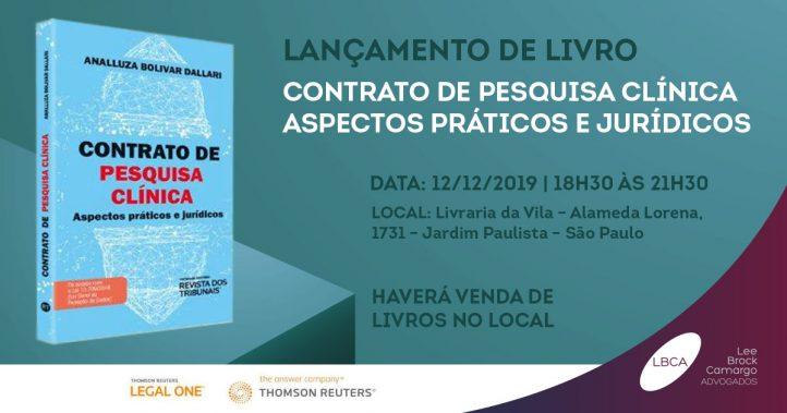 LGPD na saúde: Analluza Bolivar Dallari lança livro no dia 12 de dezembro