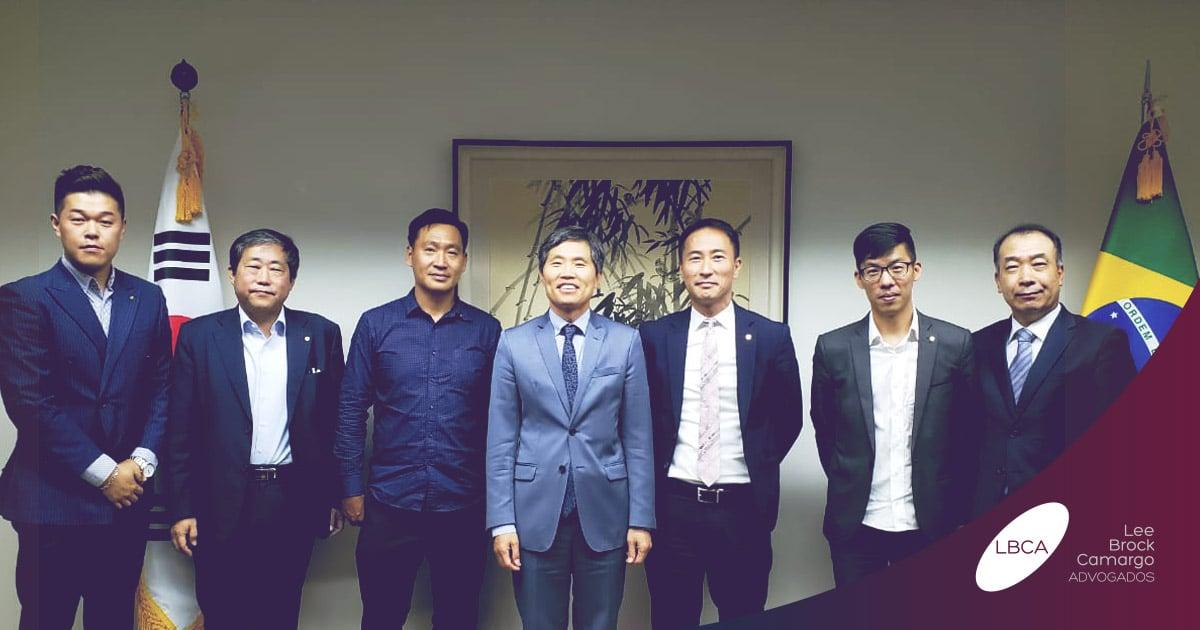 Yun Ki Lee, sócio-fundador da LBCA, visita Cônsul-Geral da Coreia
