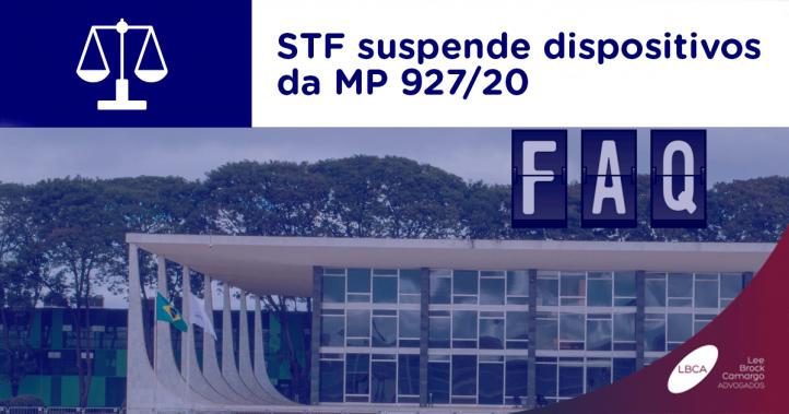 STF suspende dispositivos da MP 927/20