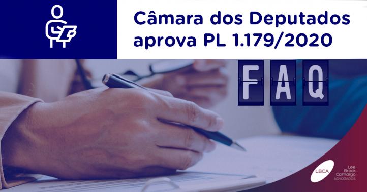 Câmara dos Deputados aprova PL 1.179/2020