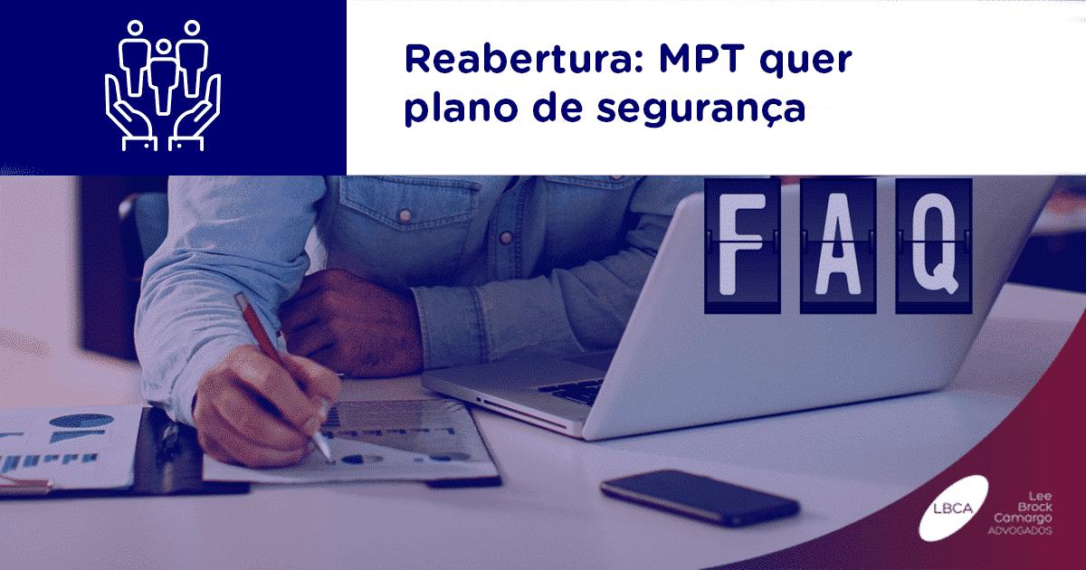 Reabertura: MPT quer plano de segurança
