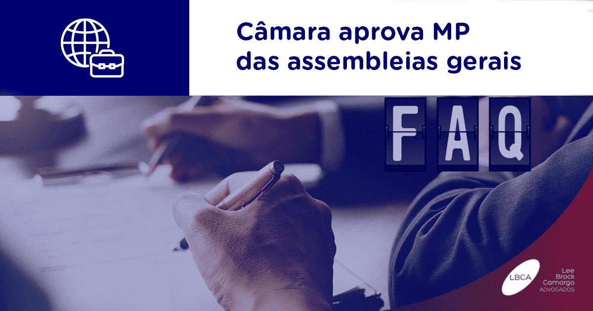 Câmara aprova MP das assembleias gerais