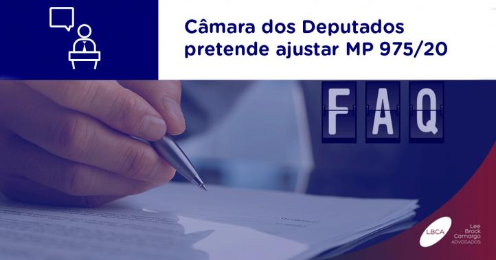 Câmara dos Deputados pretende ajustar MP 975/20