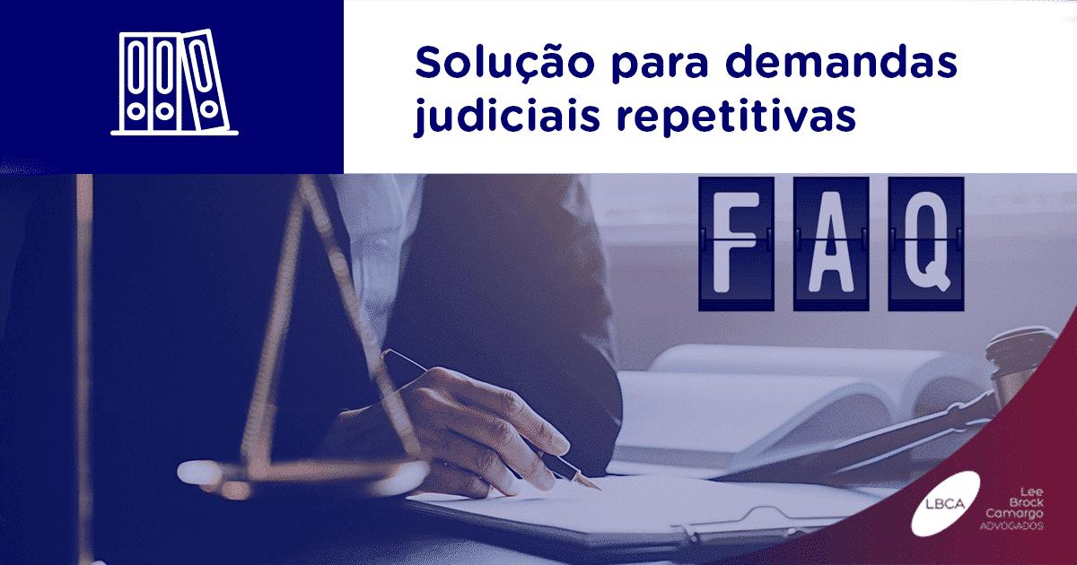 Solução para demandas judiciais repetitivas