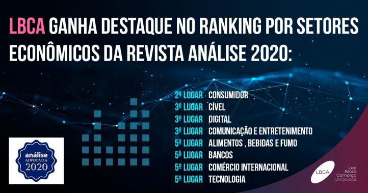 LBCA ganha destaque no ranking por setores econômicos da revista análise 2020