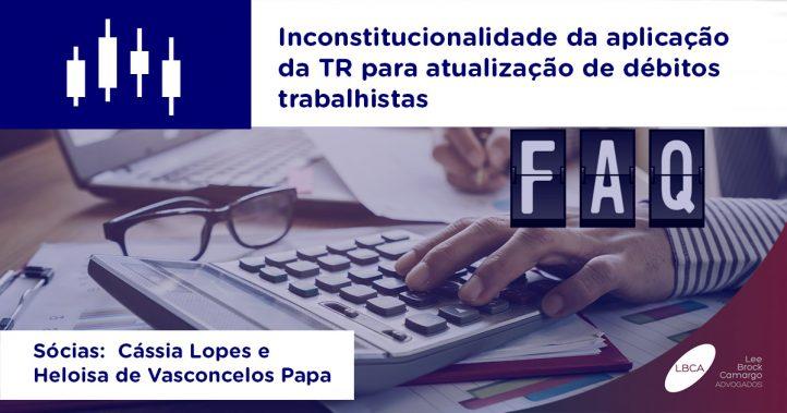 IPCA - Inconstitucionalidade da aplicação da TR para atualização de débitos trabalhistas